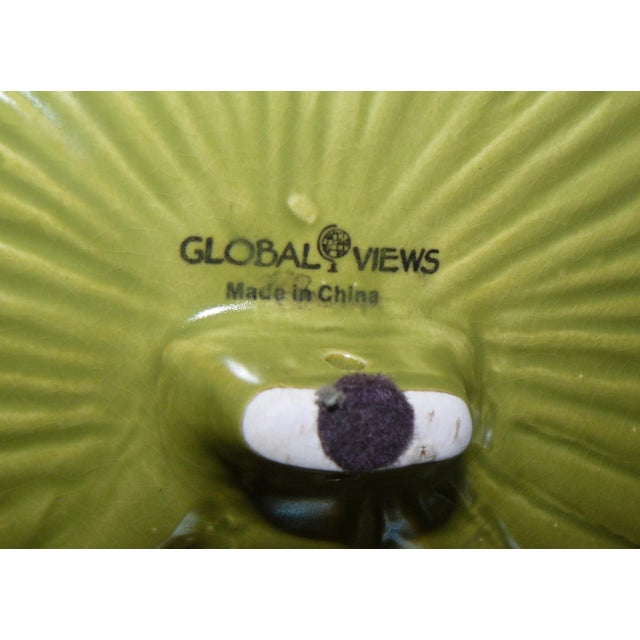Coastal Global Views Palm Leaf Platter With Feet For Sale - Image 3 of 9