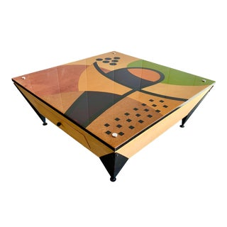 Memphis Style Benjamin Le Signed Coffee Table For Sale
