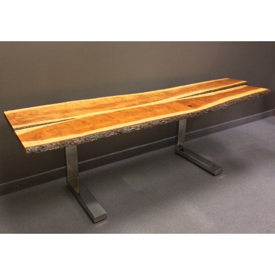 Long Cherry Wood Console For Sale - Image 4 of 5
