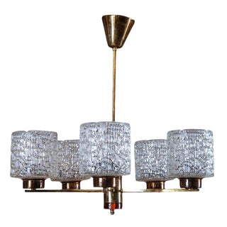 1950s Orrefors Chandelier by Carl Fagerlund For Sale