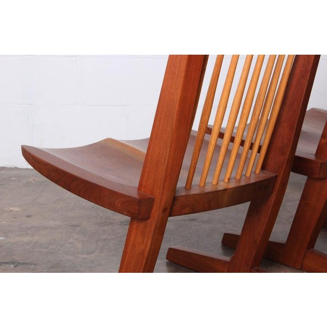 Brown Pair of Conoid Lounge Chairs by George Nakashima For Sale - Image 8 of 10