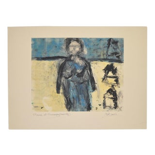 "Arthur Krakower ""Mama at Rockaway"" Original Monotype C. 2003 For Sale"