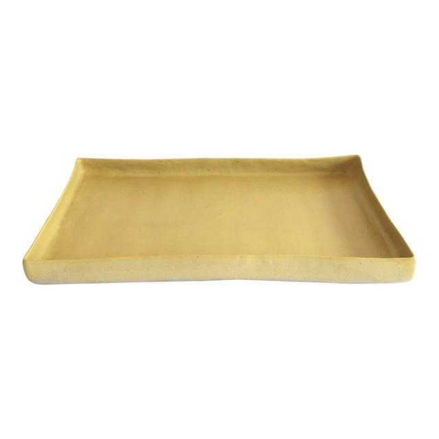 Christiane Perrochon Yellow Ceramic Tray For Sale
