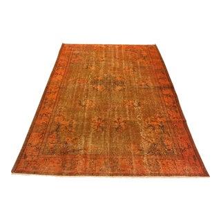 """Vintage Orange Handwoven Floor Rug - 5'9"""" x 8'9"""""""