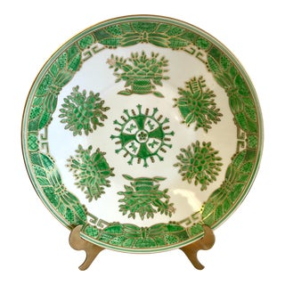 Chinese Porcelain Green and White Plate Charger For Sale