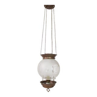Antique Converted Whale Oil Light. 19th Century Hanging Pendant Light For Sale