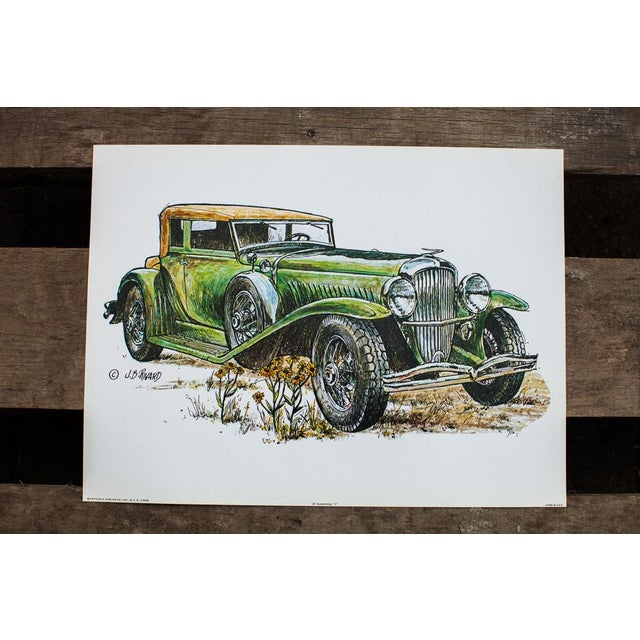 Duesenberg Car Vintage Lithograph For Sale - Image 4 of 4