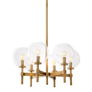 Brass Globe Chandelier | Eichholtz Jade S For Sale