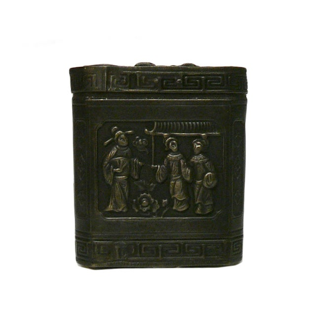 Handmade Metal Bronze Trinket Box - Image 1 of 5