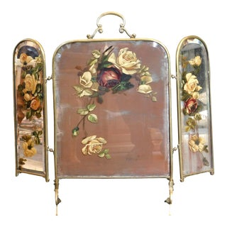 Antique Decorative Fireplace Screen For Sale