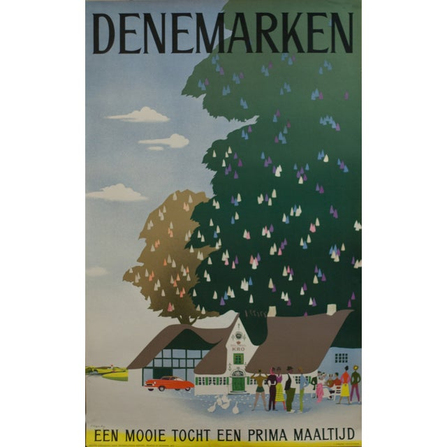Viggo Vagnby Denemarken 1953 Danish Travel Poster For Sale