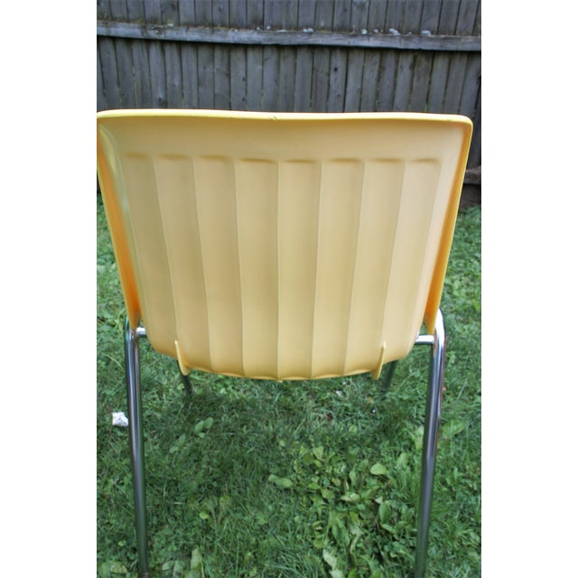 Vintage Columbia Mfg. Stacking Shell Chairs- Set of 10 For Sale - Image 10 of 12