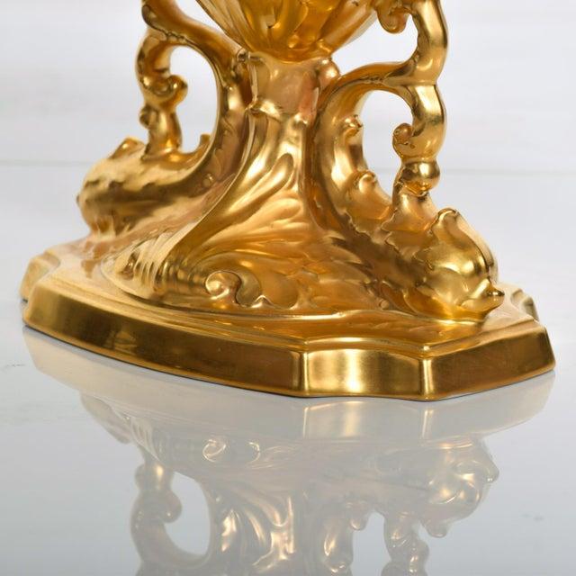 Art Nouveau Mid-Century Modern Lenox 24k Gold Aquarius Centerpiece Bowl For Sale - Image 3 of 8