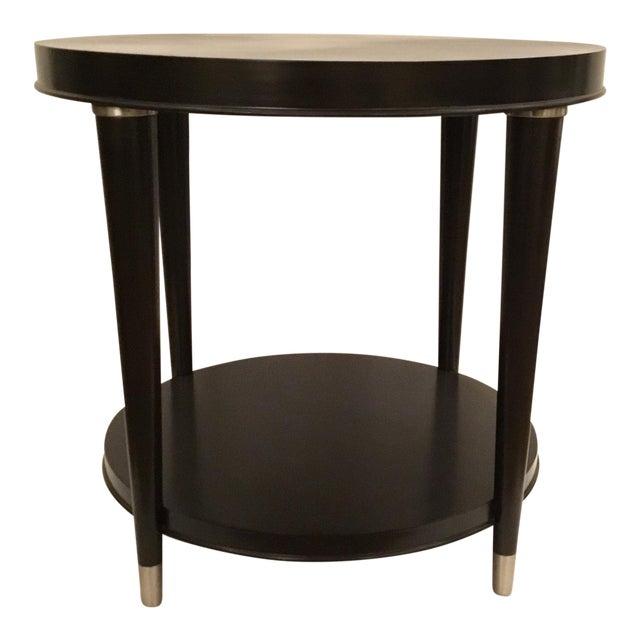 Modern Round Dark Wood End Table Chairish