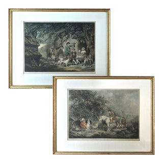 Pair 19th Century Framed Hand-Colored Engravings For Sale