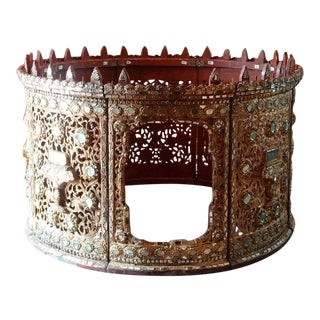 Antique Royal Burmese Drum Hsain Wain For Sale