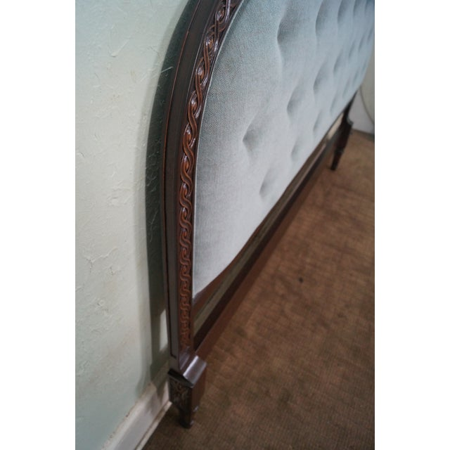 French Louis XVI Tufted Upholstered King Headboard - Image 6 of 10