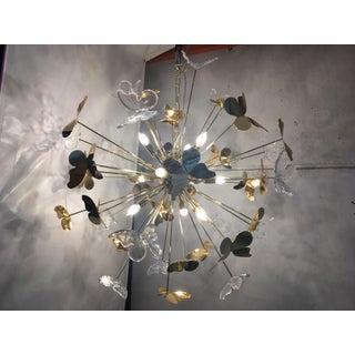 Italian Hand Made Gold 24k Butterfly Sputnik Chandelier Preview