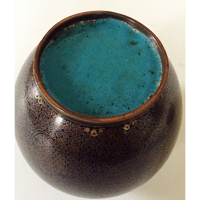 Cloisonne Ginger Jar For Sale - Image 4 of 6