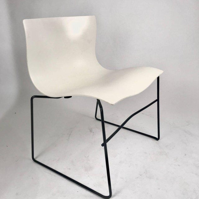 Knoll Massimo Vignelli Handkerchief Stacking Chair in Black & White For Sale - Image 10 of 10