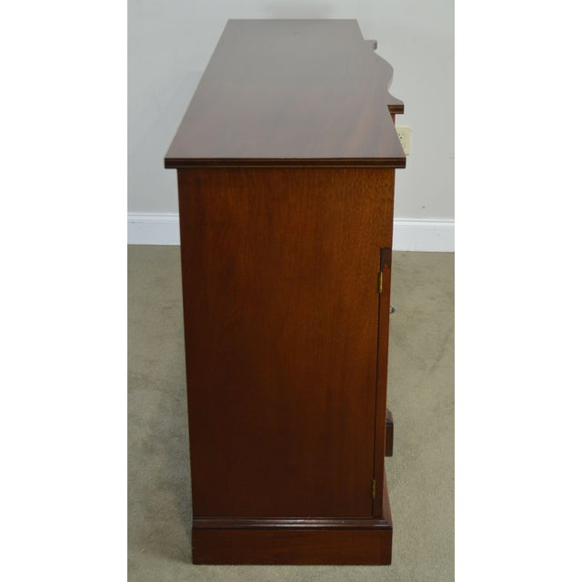 Federal Style 1940's Custom Flame Mahogany Inlaid Buffet Sideboard For Sale In Philadelphia - Image 6 of 13