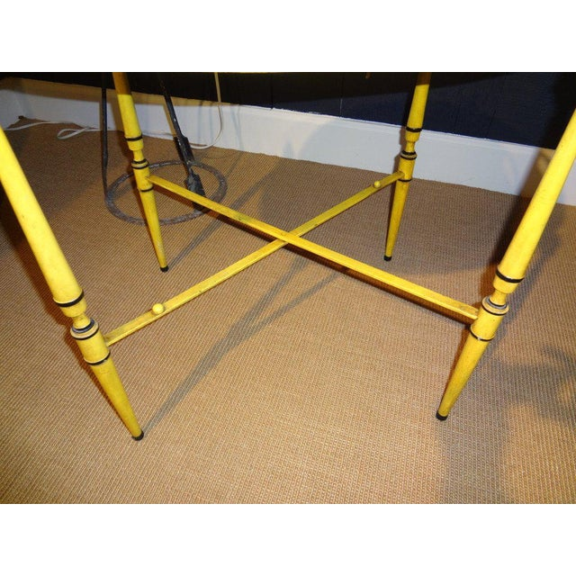Italian Neoclassical Style Tole Tray Table For Sale - Image 5 of 7