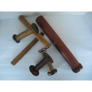 Vintage Industrial Wood Spools - Set of 6 Preview