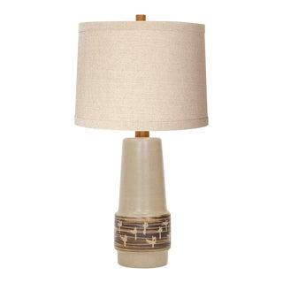 Martz Incised Stoneware Lamp For Sale