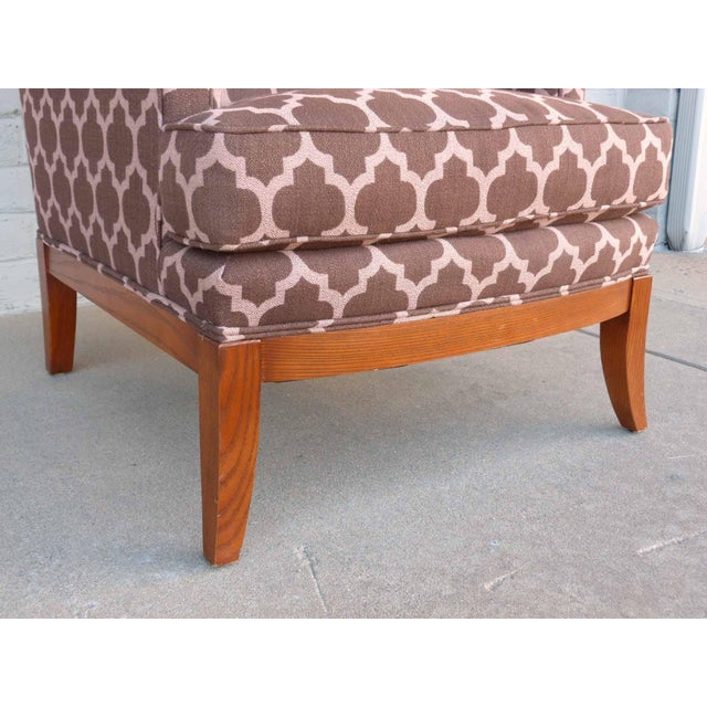 Kravet Furniture Upholstered Lounge Chairs With Wood Frame - A Pair - Image 6 of 7