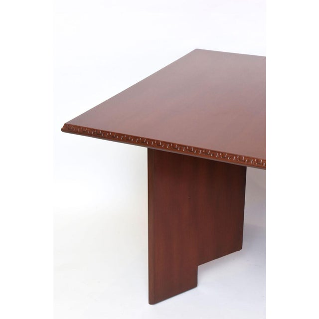 Frank Lloyd Wright Frank Lloyd Wright Mahogany Extension Dining Table For Sale - Image 4 of 9