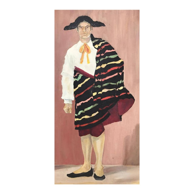 Mid-Century Spanish Bullfighter Painting - Image 1 of 6