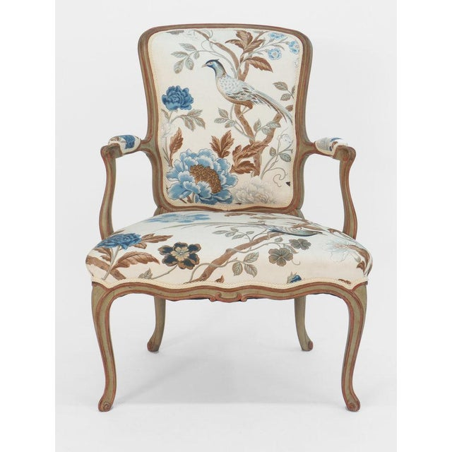 Cole Porter model Louis XV style armchair with a high French back and straight front seat rail. This model was originally...