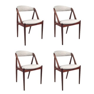 Vintage Danish Kai Kristiansen Model #31 Teak Dining Chairs - Set of 4 For Sale