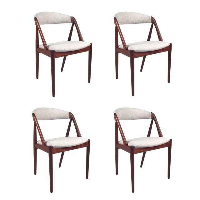 Vintage Danish Kai Kristiansen Model #31 Teak Dining Chairs - Set of 4 - Image 1 of 9