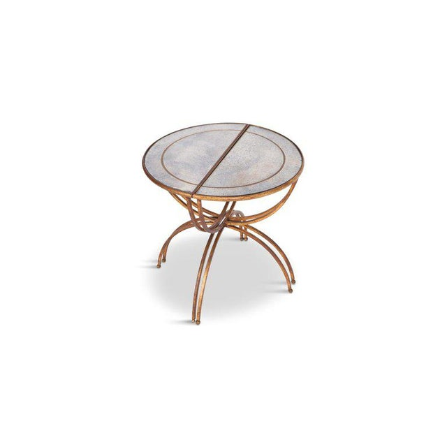 Maison Baguès Demi-Lune Sidetables With Mirrored Glass Tops For Sale - Image 6 of 13