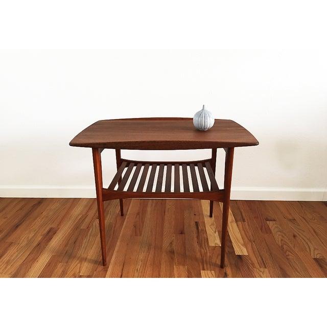Kindt-Larsen Tove & Edvard Kindt-Larsen 1960s Danish End Table For Sale - Image 4 of 9