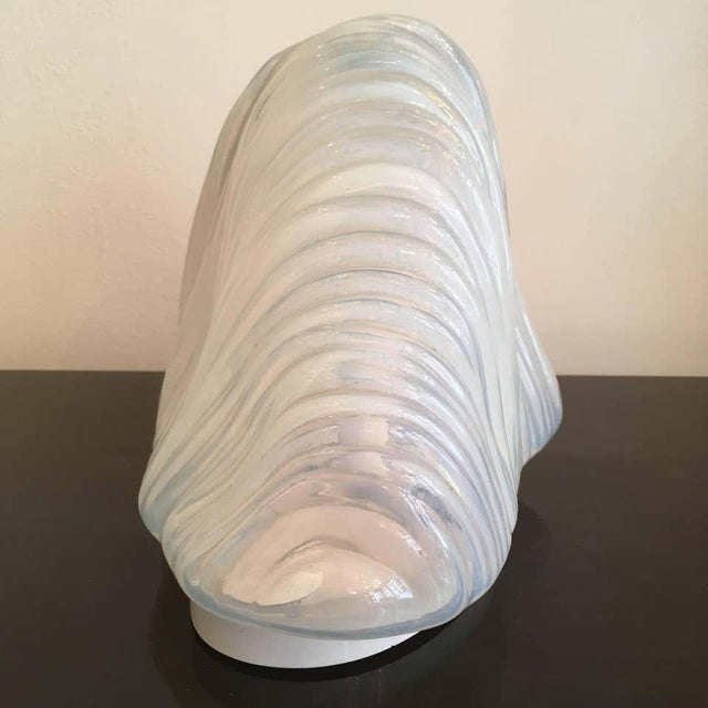 Carlo Nason Mazzega Murano Glass 1960 Iceberg Lamp For Sale In New York - Image 6 of 9