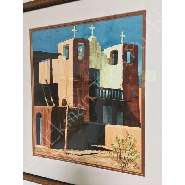 Rare Stanley Ekman the Taos Pueblos Original Watercolor - Image 11 of 11