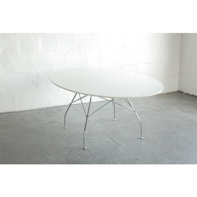 Kartell Antonio Citterio Oval Glossy Table for Kartell For Sale - Image 4 of 7
