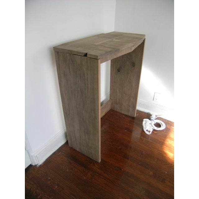 Mosaic Contemporary Fashion Inspired Walnut Console Table For Sale - Image 7 of 9