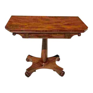Early 19th C. American Classical Card Table For Sale