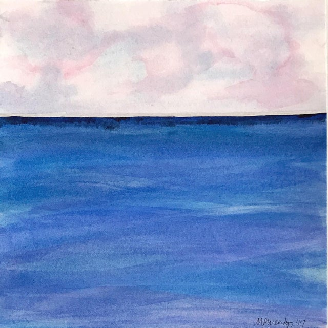 Abstract Indigo Horizon by Michelle Owenby For Sale - Image 3 of 3
