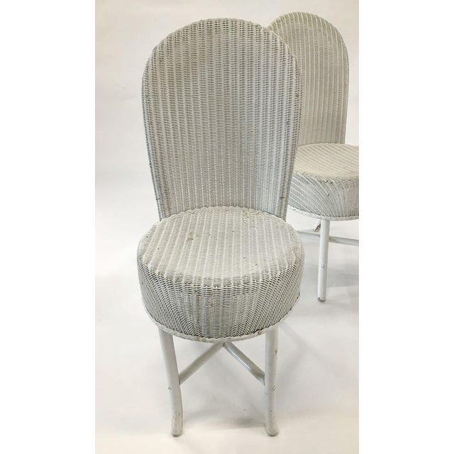 1950s Woven Lloyd Loom Chairs — Set of 4 For Sale - Image 11 of 12