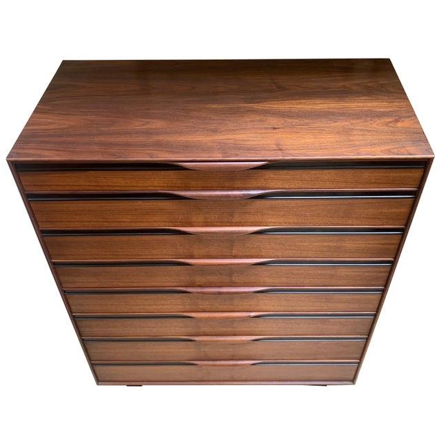 1950s 1950s John Kapel Walnut Tall Dresser for Glenn of California For Sale - Image 5 of 11