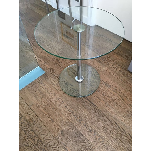 Draenert 1010 Largo Glass Coffee/Bistro Table - Image 3 of 4