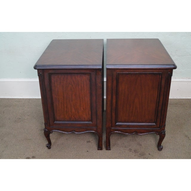 French Louis XV Style Mahogany Nightstands - A Pair - Image 3 of 8