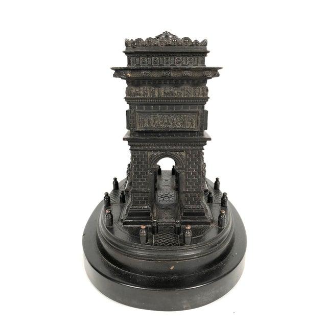 Grand Tour 19th Century Grand Tour Bronze Architectural Model of the Arc De Triomphe, Paris For Sale - Image 3 of 12