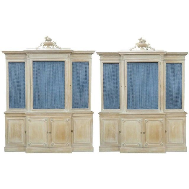 Pair of Maison Jansen Regency Style Bibliotheque Breakfronts For Sale - Image 9 of 9