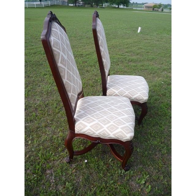 Late 20th Century Henredon Vintage Host/Hostess Dining Chairs- A Pair For Sale - Image 5 of 9