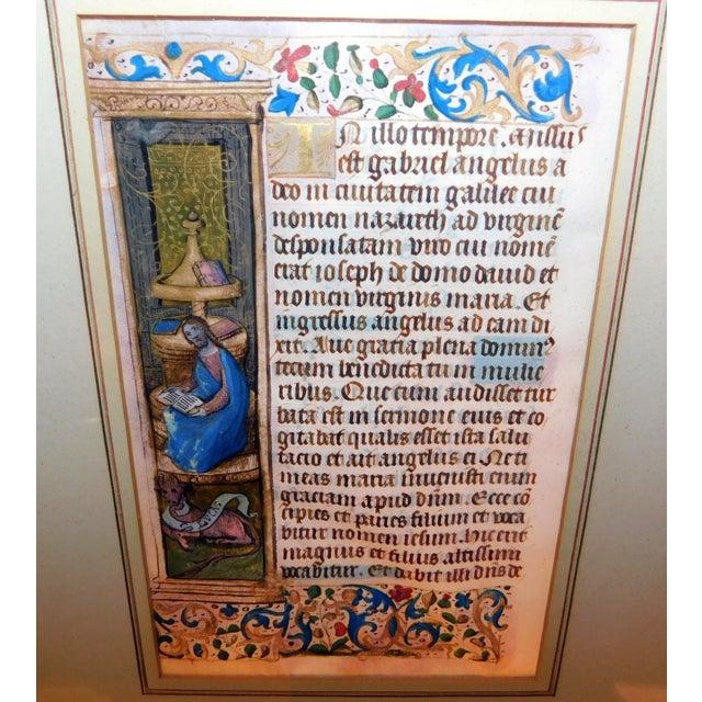 15th Century Illuminated Manuscript For Sale - Image 4 of 5